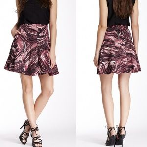 Search for Sanity Skirts - Search for Sanity Pink & Black Marble Skater Skirt
